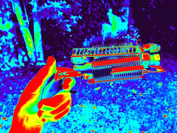 My ray-gun, in infrared