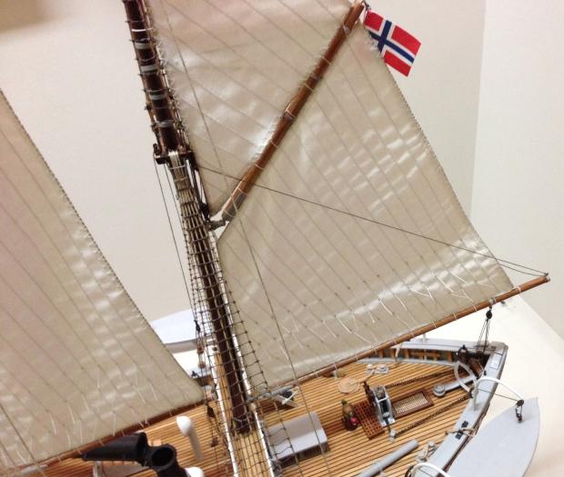 The Fram's sails