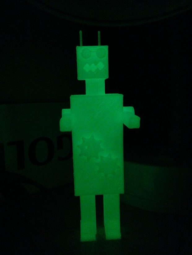 Glow-in-the-dark retro-robot